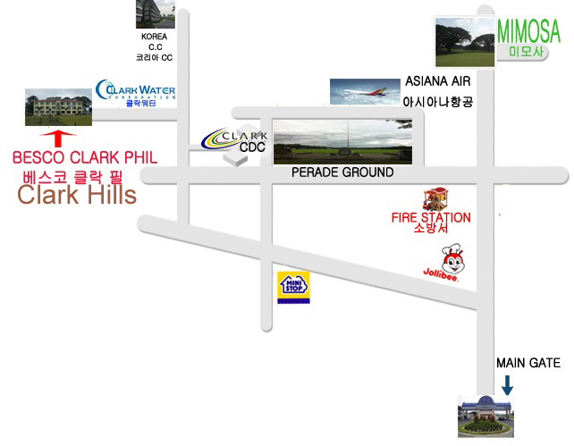 Clark Hills Location Map